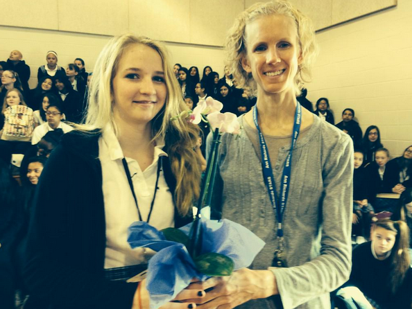 Congratulations to the Ann Richards School Teacher of the Year Ella Miesner!