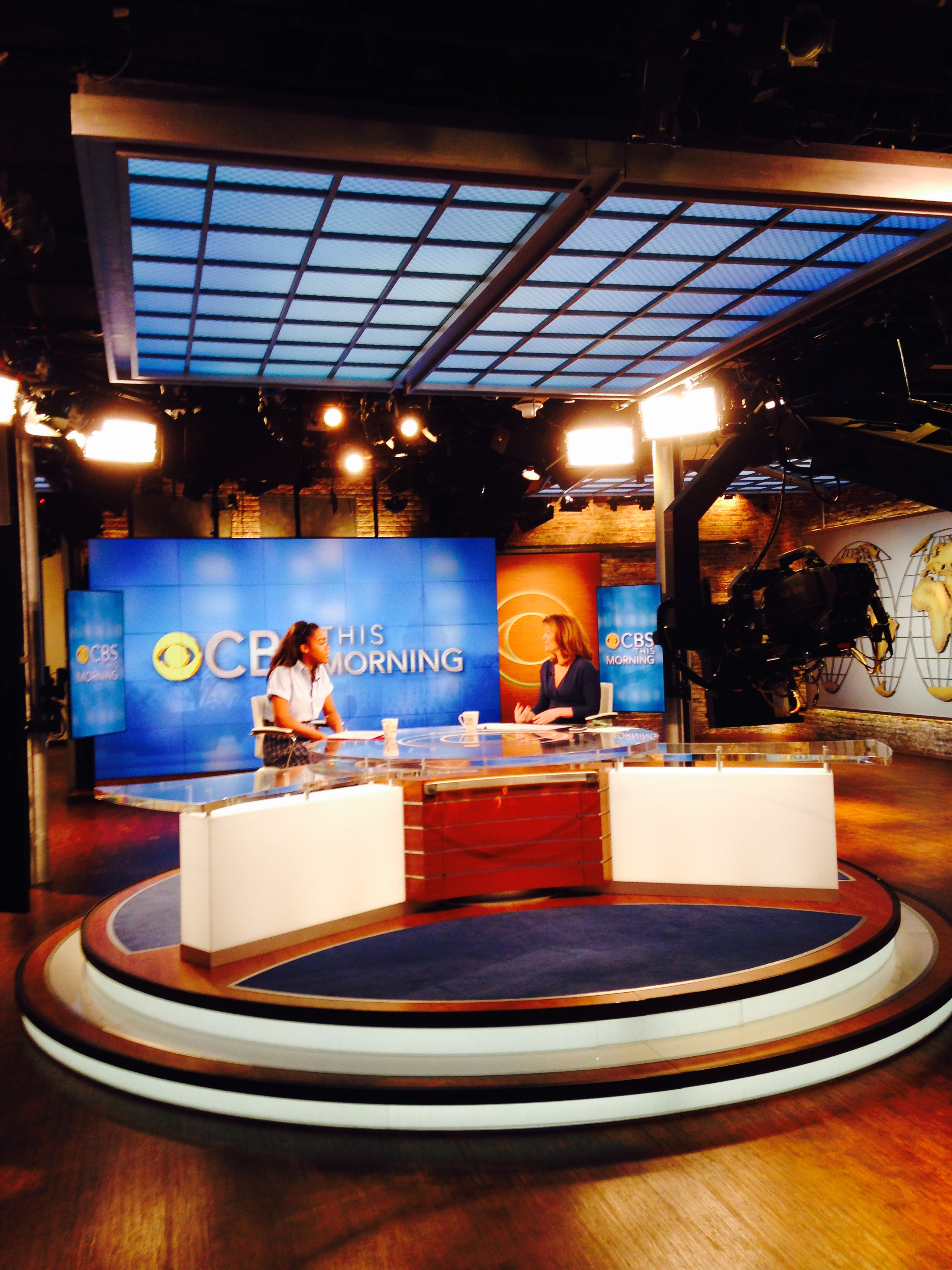 Alexis at CBS with Norah