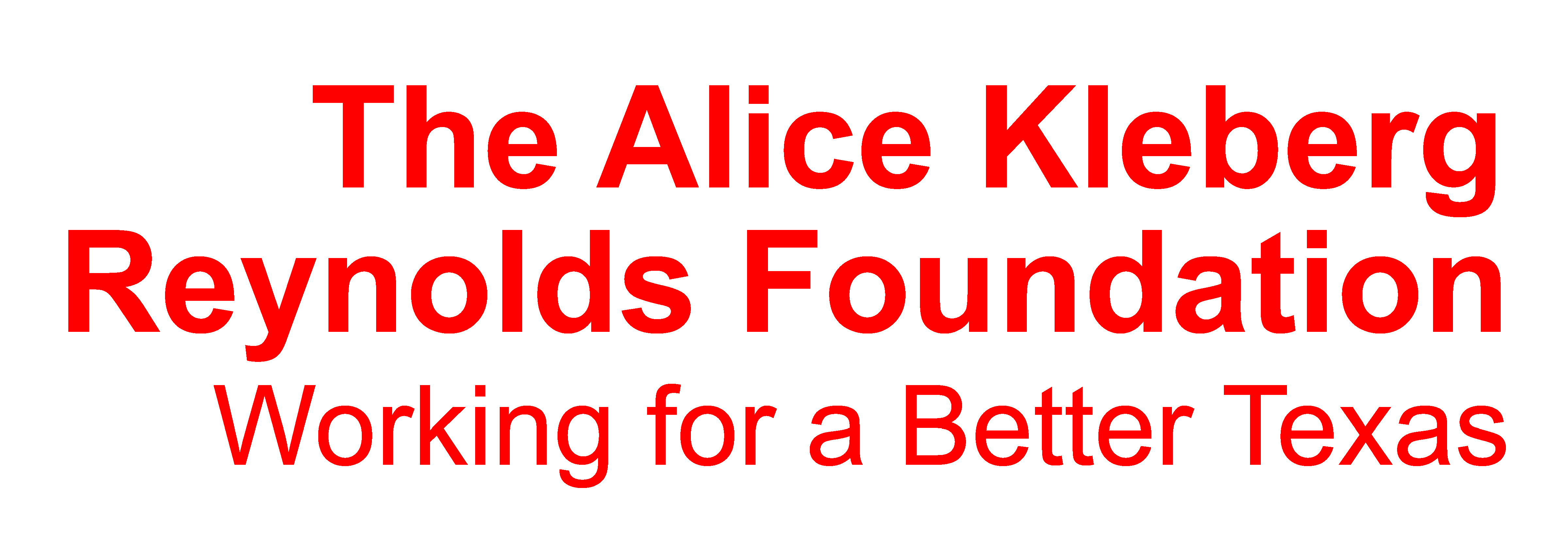 The Alice Kleberg Reynolds Foundation