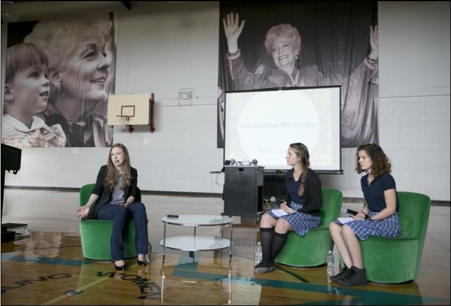 Chelsea Clinton Visit (1)